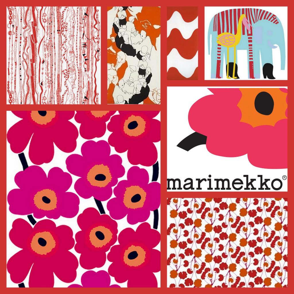 Rød Marimekko